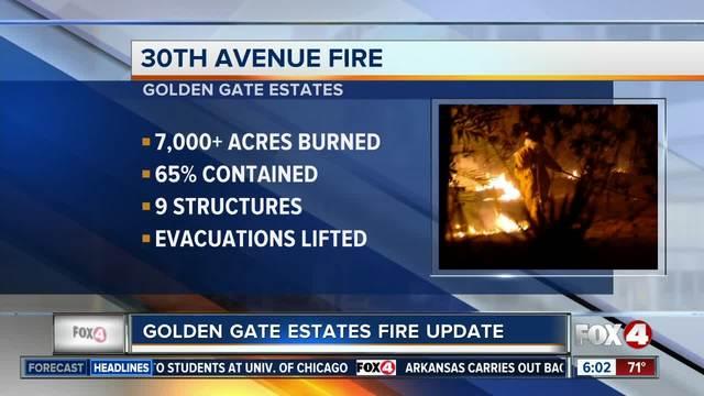 Golden Gate Estates fire update - 7am Tuesday