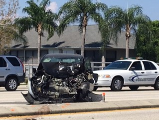 Serious accident slows traffic in Cape Coral