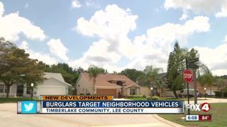 Burglars target a dozen cars in S. Fort Myers