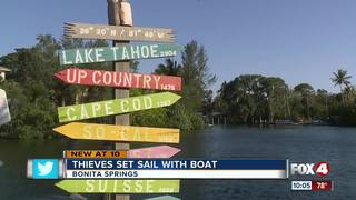 Thief sets sail with boat from Bonita Springs