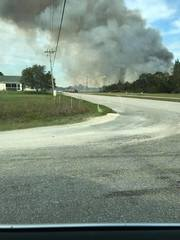 Brush fire burning in Cape Coral
