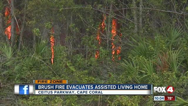 Brush Fire Evacuated Assisted Living Home