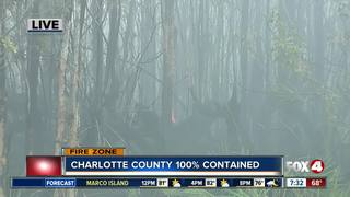 Charlotte County fire now 100% contained