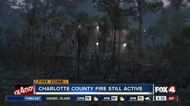 Charlotte County fire still active -- 6-30am update