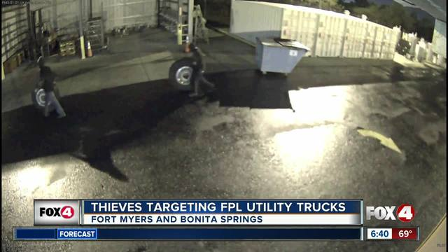 FPL investigating thefts of tires, wheels, truck batteries