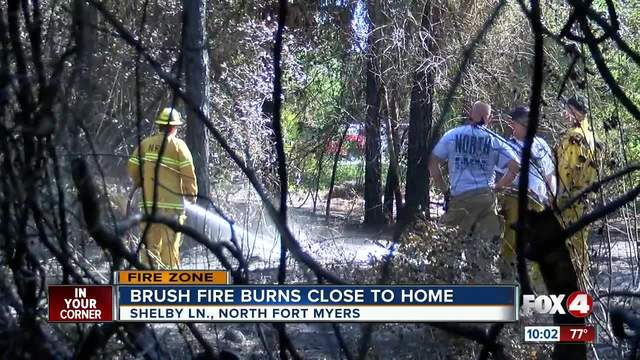 North Fort Myers fire extinguished close to homes