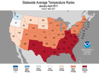 Florida endures hottest four months in 122 years