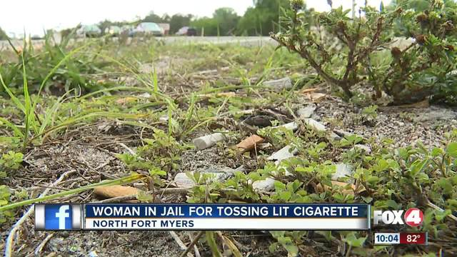 Woman Arrested for Tossing Cigarette Butt
