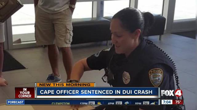 Cape Coral officer sentenced for DUI