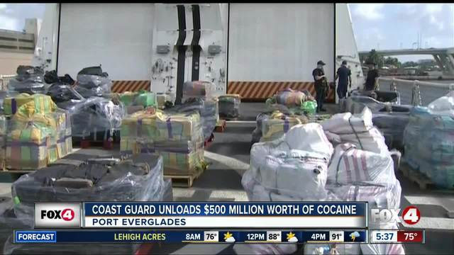 Coast Guard unloads -500M in cocaine from 20 seizures