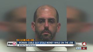 Cable guy charged with stealing on the job