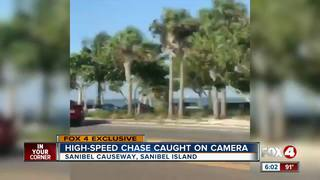 Car chase on Sanibel Causeway caught on cam