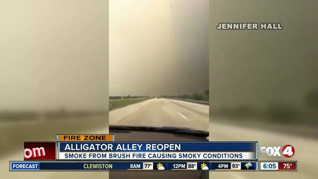 Alligator Alley reopens after fire foces closure