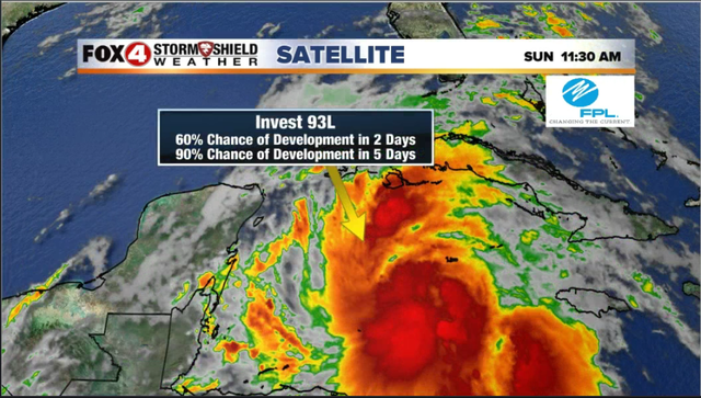 Tropical system headed into the Gulf of Mexico