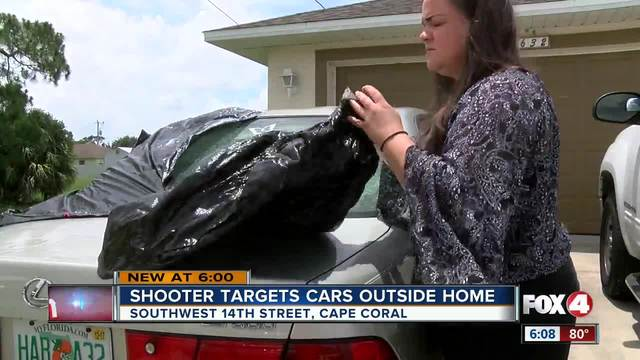 Shooters target cars outside Cape Coral home- neighbor captures driveby on video