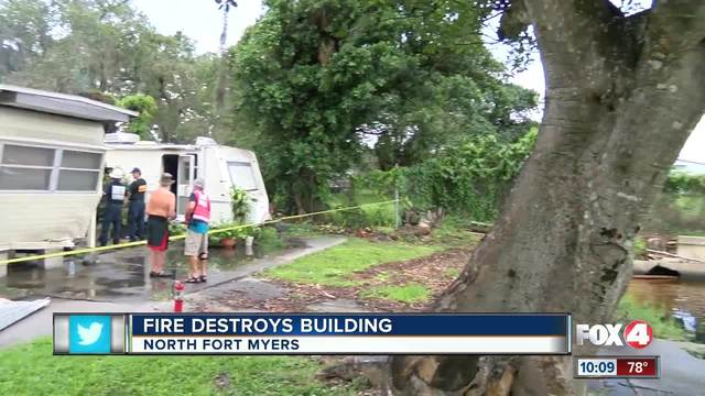 Historic North Ft- Myers building burns