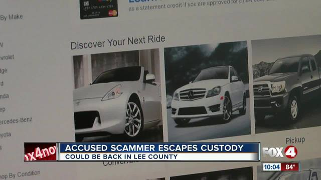 Accused Scammer Escapes Custody