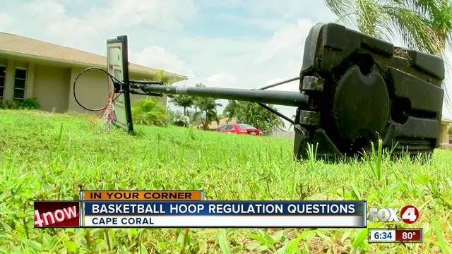 Resident upset about basketball hoop citation in Cape Coral