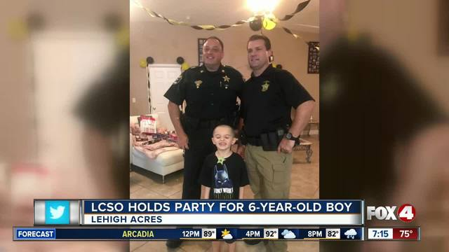 Lee County Sheriff-s Office throw birthday party for 6 year old boy