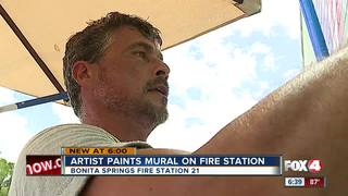 French artist paints mural in Bonita
