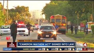 Cameron Mayhew Bill signed into law
