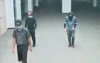 Men break in and vandalize high school