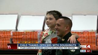 Florida boy thanks law enforcement in Fort Myers