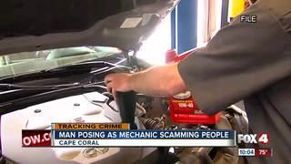 Man posing as mechanic scamming people in...