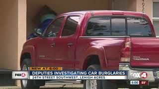 Residents on edge following more car burglaries