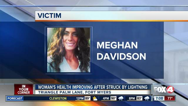 Fort Myers woman struck by lightning improving to fair condition