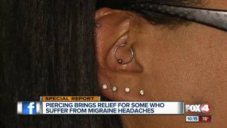 Using a piercing to get rid of migraine pain