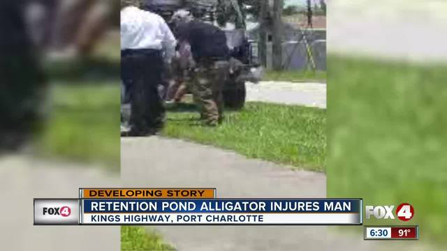 Man attacked by alligator at Charlotte County retention pond