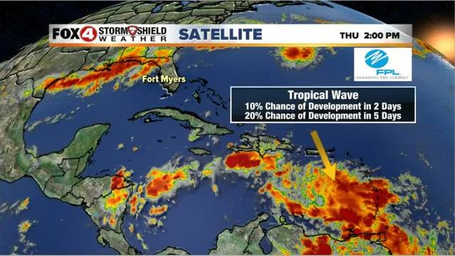 Tropical wave has 60% chance of development next week
