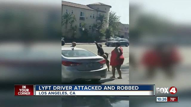 Lyft driver attacked and robbed