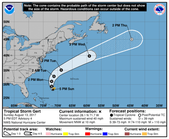 Tropical Storm Gert expected to form