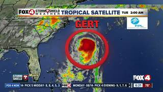 Gert strengthens into season's 2nd hurricane