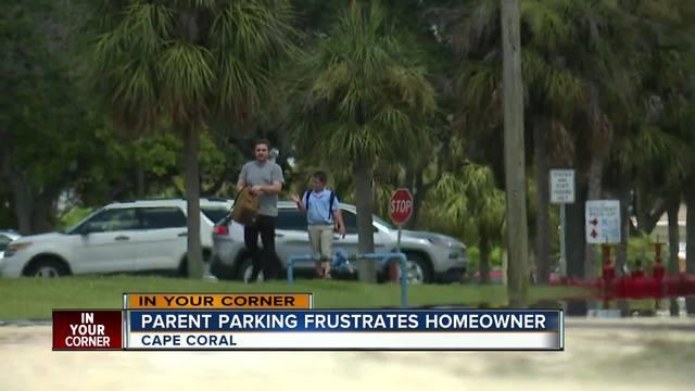 Parent parking frustrates homeowner
