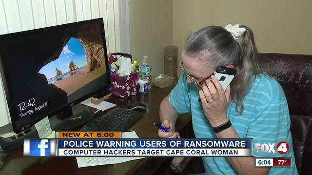 Police warning users of ransomware