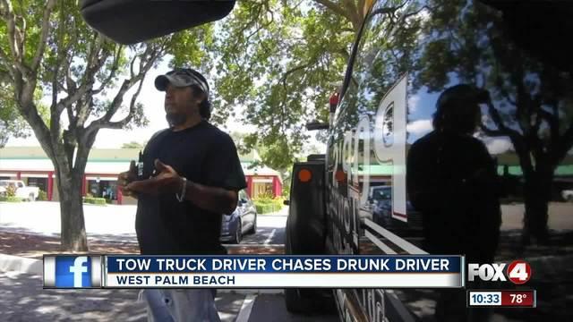 Man follows drunk driver
