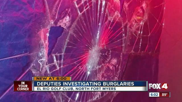 Deputies investigating burglaries