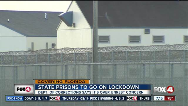 Florida prisons on partial lockdown over unspecified threat