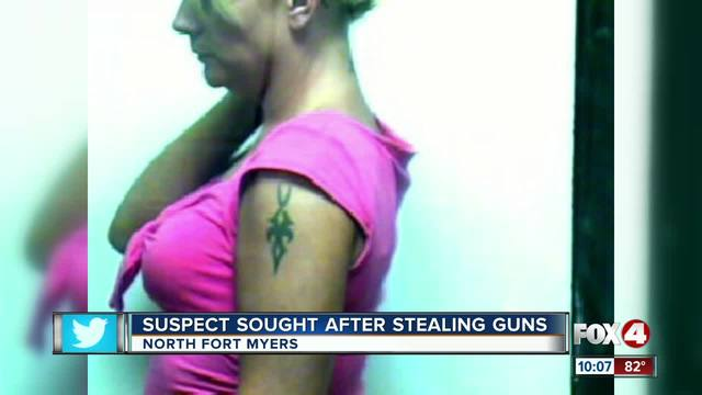Woman suspected of stealing guns identified