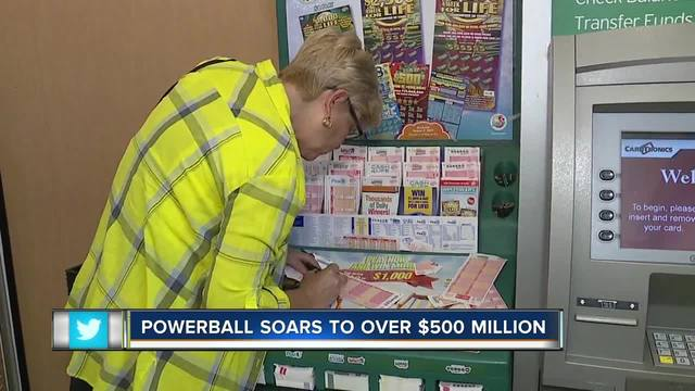 Powerball soars to over -500 million