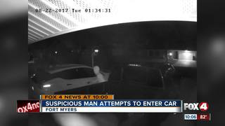 Man caught on camera trying to break into car