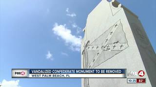 Florida city removes Confederate monument