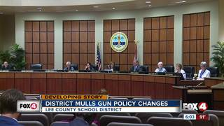 Lee Co. School District mulls gun policy changes