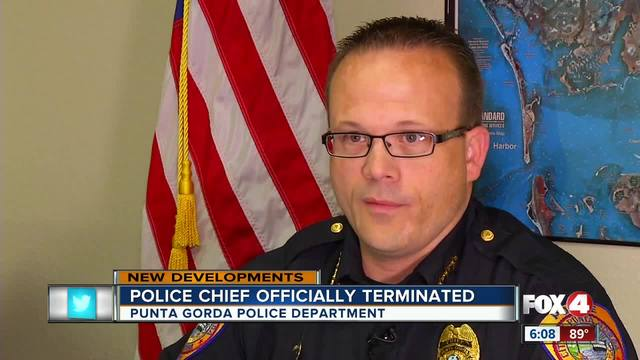 Punta Gorda police chief officially fired