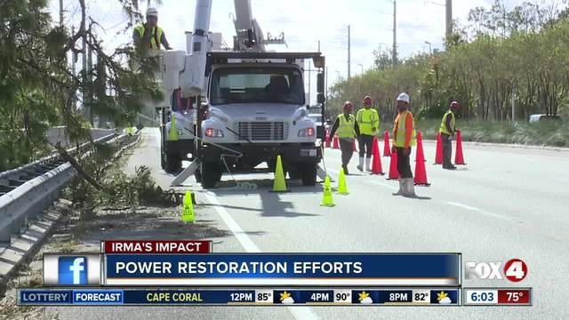 California crews deploy to restore power lost in Irma