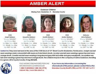 Four children still missing in AMBER Alert