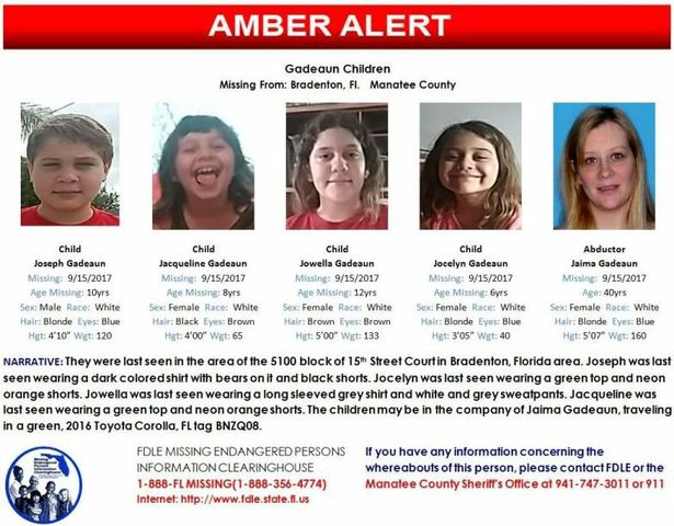 Amber Alert Issued for 4 Siblings Missing in Southwest Florida